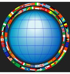 Globe flags vector