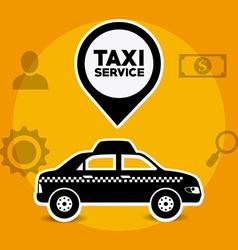 Taxi service design vector