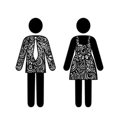 Sign of man and woman vector
