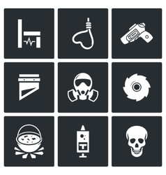 Execution icons vector