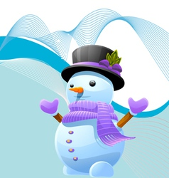 abstract iceman vector image