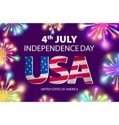 Fireworks background for 4th of july independense vector