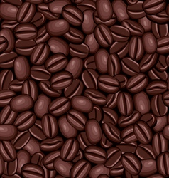 Seamless texture of coffee beans vector