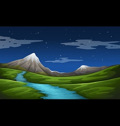 A beautiful scenery vector