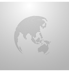 a world globe map vector image
