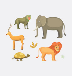 african animals cartoon set vector image vector image