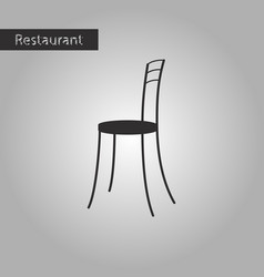 black and white style icon chair vector image