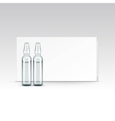 Blank packaging box for ampoules isolated vector