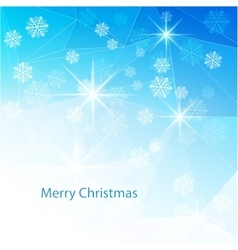 Blue christmas background with texture triangle vector