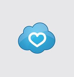 Blue cloud heart icon vector image