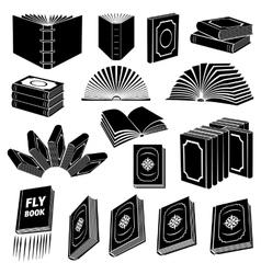 Book simple icon set vector image