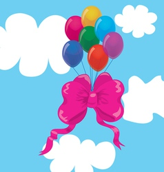 bow balloons vector image