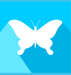 butterfly symbol vector image vector image