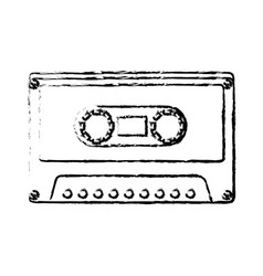 cassette old music icon vector image