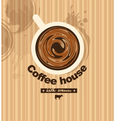 coffee with milk vector image vector image