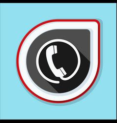 Contact phone button vector