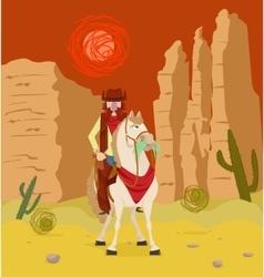 Cowboy on horseback vector