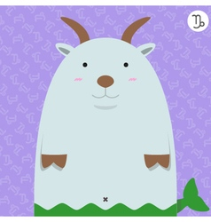 cute big fat capricorn zodiac cartoon vector image