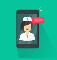Doctor online on cellphone vector