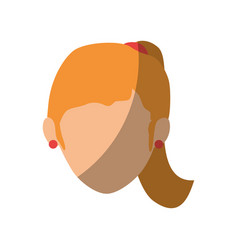 Isolated blondie women face vector