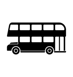 London Double Decker Bus Silhouette vector image