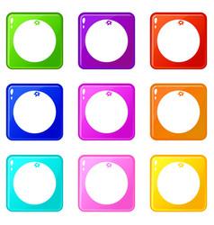 Mandarin icons 9 set vector