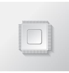 Microchip web icon vector