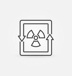 Nuclear energy concept icon vector