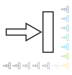 Push right icon vector