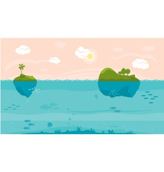 Sea game background vector