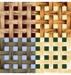 Seamless wooden lath pattern vector image vector image
