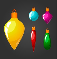 Set of christmas toys vector