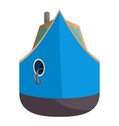 Ship icon cartoon style vector