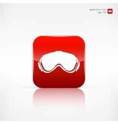 Ski goggles vector
