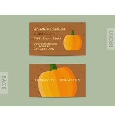 Summer Organic Farm Fresh branding identity vector image vector image