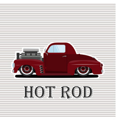 Vintage car a isolated on vector