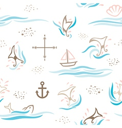 Whale taildream pattern vector
