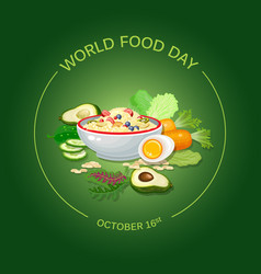 World food day greeting card vector