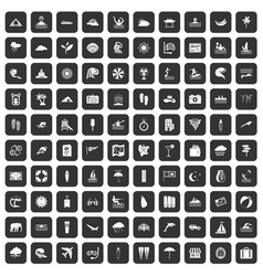 100 surfing icons set black vector