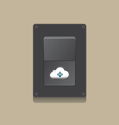 Switch open cloud icon concept vector