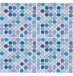 Seamless blue vitrage square texturebackground vector image