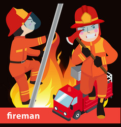 fireman collection vector image