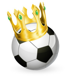 king of football soccer vector image