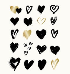 Heart shapes collection vector
