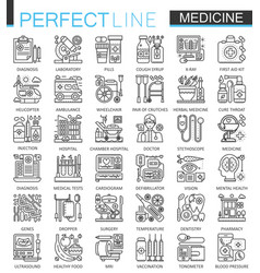 medical outline concept symbols perfect thin line vector image