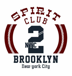 Spirit club brooklyn vector