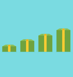 stack of money flat vector image