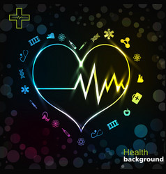 Medicine black golden background vector