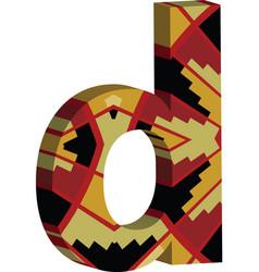 3d font letter d vector