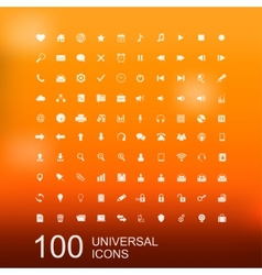 Set of 100 Icons for Web Design vector image